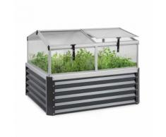 Blumfeldt High Grow Advanced Carré de potager surélevé avec toit - 540 litres - Acier anthracite - Jardinières et bacs