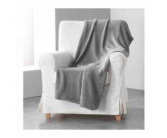 Plaid couvre lit uni Louna Béton 125x150 - Textile séjour
