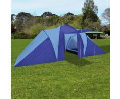 Meelady Tente de Camping de Imperméable 6 personnes Pour Camping Randonnée ou Pique-nique Bleu Marin/Bleu Clair - Matériels de camping et randonnée