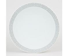 Table Passion - Assiette Plate 27Cm Rice Noir (Lot De 6) - vaisselle