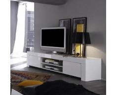 meuble tv blanc laqué design pietra - blanc - l 190 x p 50 x h 45 cmmeuble tv blanc laqué design pietra - blanc - l 190 x p 50 x h 45 cm - meuble tv