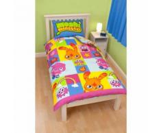 Moshi Monsters - Parure de lit simple ou double - Enfant unisexe (Lit simple) (Bleu/Vert) - UTKB715 - Linge de lit