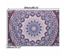 Mur tapisserie Mandala indien Hanging Throw Gypsy Dorm Mat Décor Couvre-lit Couverture # 17 éléphant (145 * 145cm) - Accessoire photo