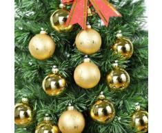 Verre gold boules en verre peint à la main pour cadeau de Noël 12 boules suspendues parfait pour la décoration de sapin de Noël - Objet à poser