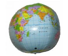Globe terrestre gonflable 35 cm - Article de fête