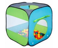 LittleTom Tente de jardin à boules 70x70x72cm jouet pour jeunes enfants Bleu - Coffre à jouets et rangements