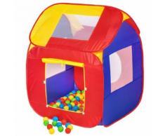 TECTAKE Piscine à balles Cabane Maison Tente Pop-Up de Jeux pour Enfant 86 cm x 84 cm x 102 cm Multicolore - Autre jeu de plein air