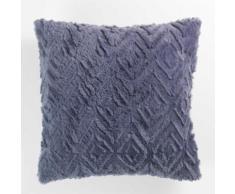 Coussin 40 x 40 cm imitation fourrure luxor Navy - Textile séjour