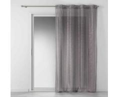 Panneau a oeillets 140 x 240 cm voile imprime metallise luxury Gris/or Rose - Rideaux et stores