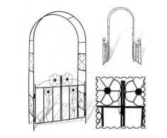 Arche de jardin avec la porte - Accessoire bassin d'agrément