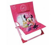 FUN HOUSE 712890 Disney Minnie Chaise/Fauteuil de Plage Pliable pour Enfant - Matériels de camping et randonnée