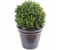 Plante artificielle haute gamme Spécial extérieur / Buis artificiel boule UV - Dim : H.45 x D.30 cm - Plantes artificielles