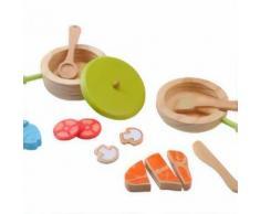 Everearth Jouets vaisselle bois multicolore - Cuisine