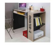 Bureau bibliothèque chêne et noir BU5009 - Bureaux enfant et accessoires