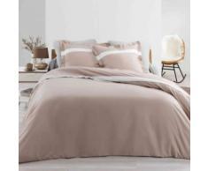 Parure de lit percale Astoria naturel 240x220 cm - Linge de lit