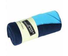 Plaid couverture polaire double couche 150 x 170 - JN952 - bleu marine et aqua - taille:unique - Textile séjour