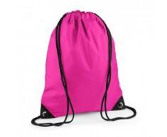 Sac à dos à bretelles - gym - linge sale - chaussures - BG10 - rose fuschia - Sac à dos bandoullière