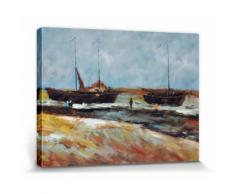 Vincent Van Gogh Poster Reproduction Sur Toile, Tendue Sur Châssis - Plage À Scheveningen Par Temps Calme, 1882 (30x40 cm) - Décoration murale