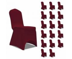 vidaXL Housses élastiques de chaise Bordeaux 18 pcs - Textile séjour