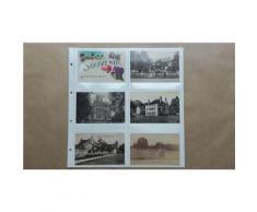 5 feuilles SAFE fond blanc pour cartes postales anciennes / 12 cases horizontales (pour classeur format 33cmsx33cms) - Autres Classement et Archivage