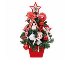 Sapin de Noël Mini bureau Décoration 45 CM-Blanc - Objet à poser