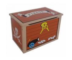 Kiddi Style les enfants Bois Boite de Rangement Jouets Coffre au Trésor Pirate - Accessoires de bain