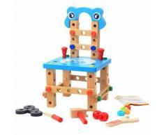 Assemblée Désassemblage En Bois Chaise Outil De Noix Chaise Jouets Pour Enfants Puzzle MK3392 - Jeux d'éveil