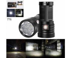 Extérieur 7X T6 LED 3 modes torche LED Flashlight Pro lampe 18650 Kiliaadk188 - Torches