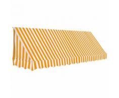 vidaXL Auvent de bistro 350x120 cm Orange et blanc - Mobilier de Jardin