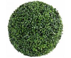 Plante artificielle haute gamme Spécial extérieur / Buis boule artificiel - Dim : H.38 x D.38 cm -PEGANE- - Plantes artificielles