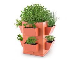 Waldbeck Herbie Hero Jardinière multi plantes herbes 8 bacs - terracotta - Jardinières et bacs