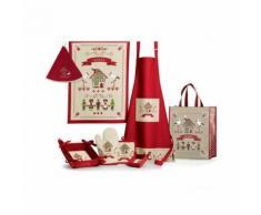 Tablier de cuisine Hisla Rouge/Ecru 72×85 cm Winkler Winkler - Linge de table