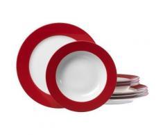 ritzenhoff & breker 596717 doppio service de table rouge 8 pièces - vaisselle
