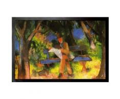 August Macke Paillasson Essuie-Pieds - Homme Lisant Dans Un Parc, 1914 (60x40 cm) - Tapis et paillasson