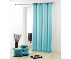 Rideau a oeillets metal 140 x 280 cm polyester uni essentiel Menthe - Rideaux et stores