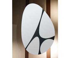 Miroir Salle de bain Pebbles Modèle irrégulier Noir 90 X 133 - Miroir