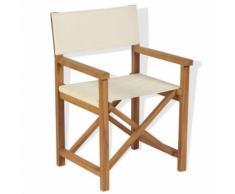 vidaXL Chaise pliable de metteur en scène Bois de teck solide - Mobilier de Jardin