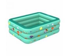 Baignoire gonflable de piscine gonflable d'enfants vert 130CM - Piscine