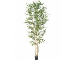 Plante artificielle haute gamme Spécial extérieur en Bambou artificiel, couleur verte - Dim : 280 x 110 cm - Plantes artificielles