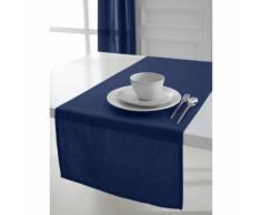 Chemin de table coton 50 x 150 cm - Bleu foncé - Linge de table - Rideaux et stores