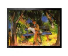 August Macke Paillasson Essuie-Pieds - Homme Lisant Dans Un Parc, 1914 (70x50 cm) - Tapis et paillasson