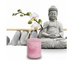 Bien-Être Bougie Parfumée - Roses, Rosé (5x4 cm) - Bougeoir, bougie et senteur