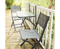 Wilsa Table de jardin DE BALCON PLIANTE - Mobilier de Jardin