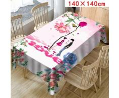 Imprimer la Nappe Rectangle Table Cover Holiday Home Party Décor Saint-Valentin_Kiliaadk718 - Accessoires de rangement
