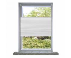 Store plissé en blanc Enrouleur Rideau Occultant Protection Solaire sans Perçage Modèle 10 - Objet à poser