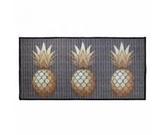 tapis deco rectangle 57 x 115 cm imprime trio ananas - Tapis et paillasson