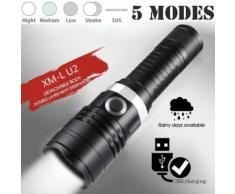 5 étanche XML-U2 Modes de poche extérieure LED Super Bright 18650 lampe torche Kiliaadk139 - Torches