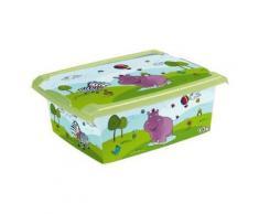 PLASTOREX - PLASTOREX Boîte de rangement Hippo 10 L - Jouets à tirer ou à pousser en bois