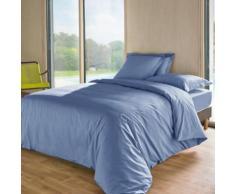 Housse de couette TUTTI TEMPO 140 x 200 cm Bleu faïence - Linge de lit