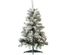 Sapin de Noël style ''enneigé'' 120 cm, 199 branches - Objet à poser